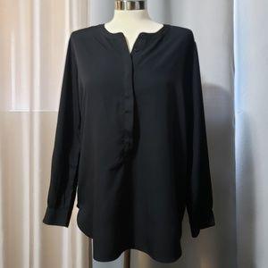 Jessica Simpson black long sleeve blouse